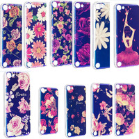 Luxury Fashion Brand Flower Blu Ray Laser Soft TPU Silicone Phone Case For IPod Touch 5