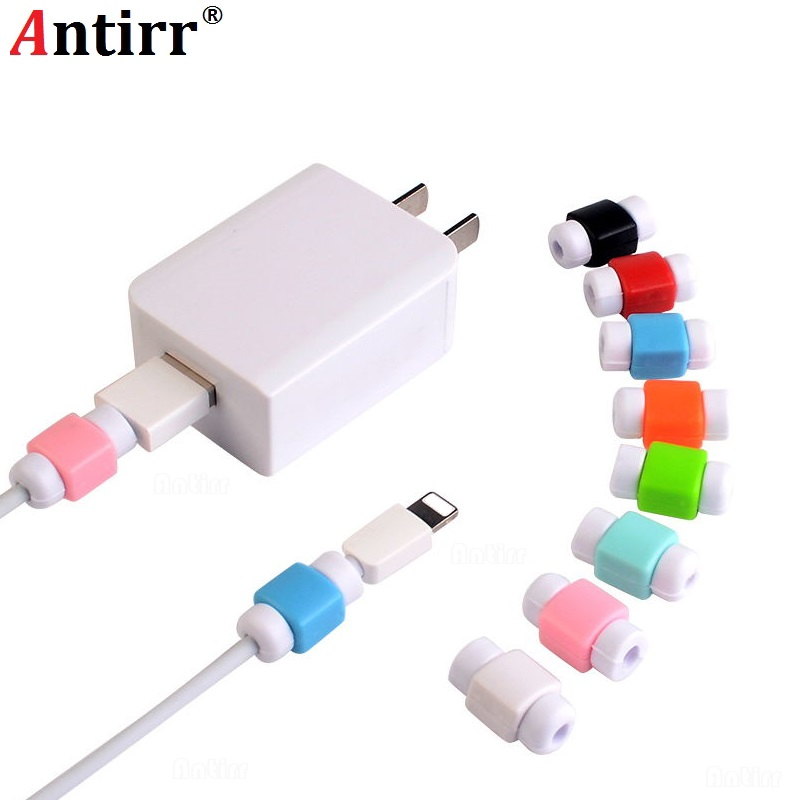 10pcs USB Cable Protector Saver Earphone Cord Protection Wire Cover 8Pin Data Charger Line Protective Sleeve For Iphone 7 8 Plus