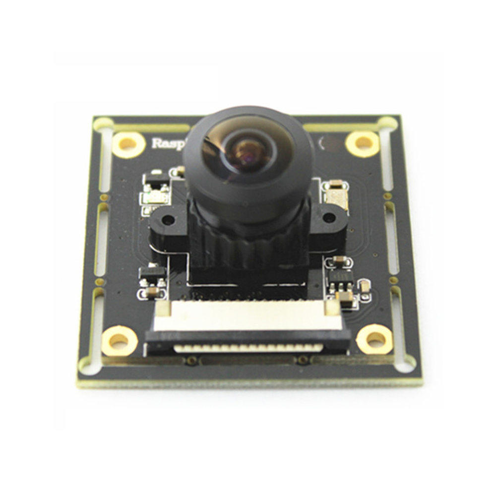 Raspberry Pi 3 B+ Camera Module OV5647 Fish Eyes Wide Angle Camera Focal Adjustable for Doorbell Monitoring Camera Module-in Demo Board Accessories from Computer & Office