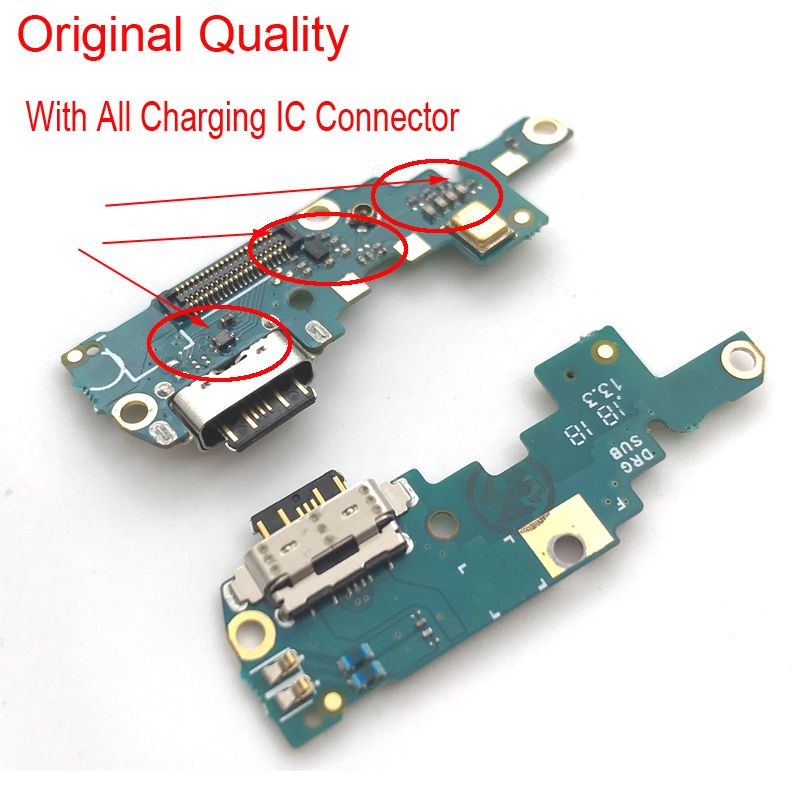 USB Charging Port Flex Cable For Nokia X6/ 6.1 Plus TA-1099/1103 Dock Charger Connector Mic Microphone Board Module