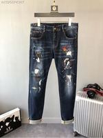 2018 new High Quality fashion Jeans Runway Summer man Brand Luxury Men's Clothing A07645