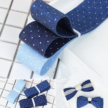 20 Meters Denim Cloth Strips Cotton Velvet Ribbon Handmade Bow Material Gift Wrapping Christmas Deco Ribbons striped tape fabric ribbon diy craft bow tie material apparel sewing gift wrapping christmas wedding party ribbons 10 meters