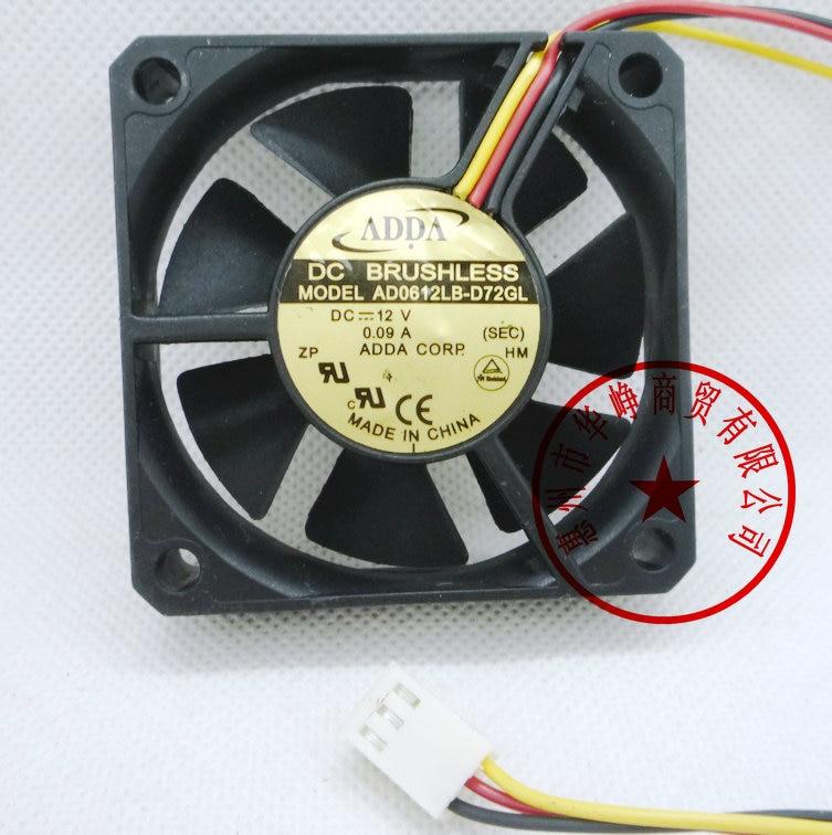 1pc new fan ADDA AD0612HB-A70GL 6025 6CM 12V 0 23A