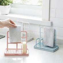 Towel Rack Table Holder Organizer Bathroom Kitchen Dish Cleaning Cloth Drying Sponge Hanger Wash Shelf Storage