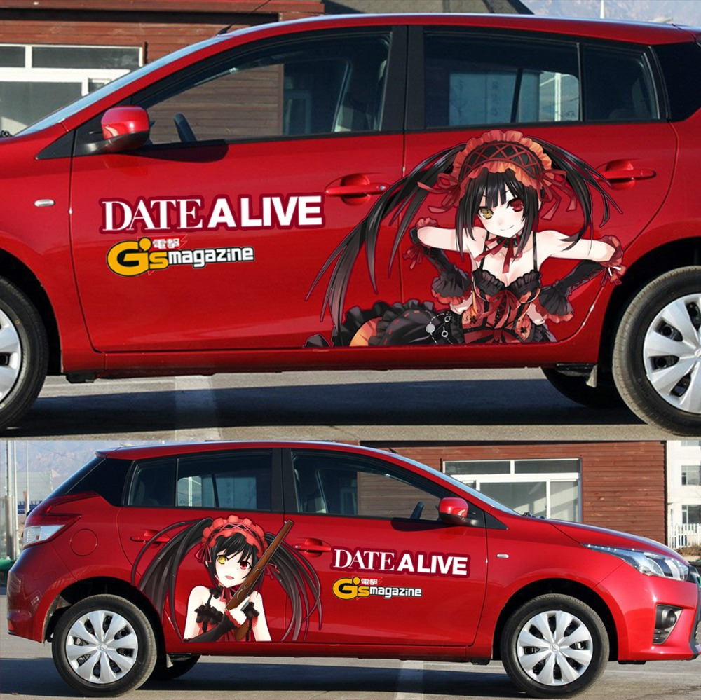 Itasha 2 pieces custom anime sticker date a live car