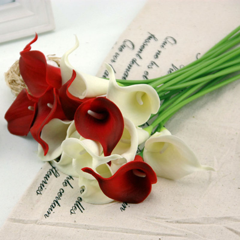 9 piece  lot Mini Calla Decorative Flower PU Artificial Flowers Handmade  Plants 34cm Festive Party. Online Buy Wholesale handmade decoration pieces from China