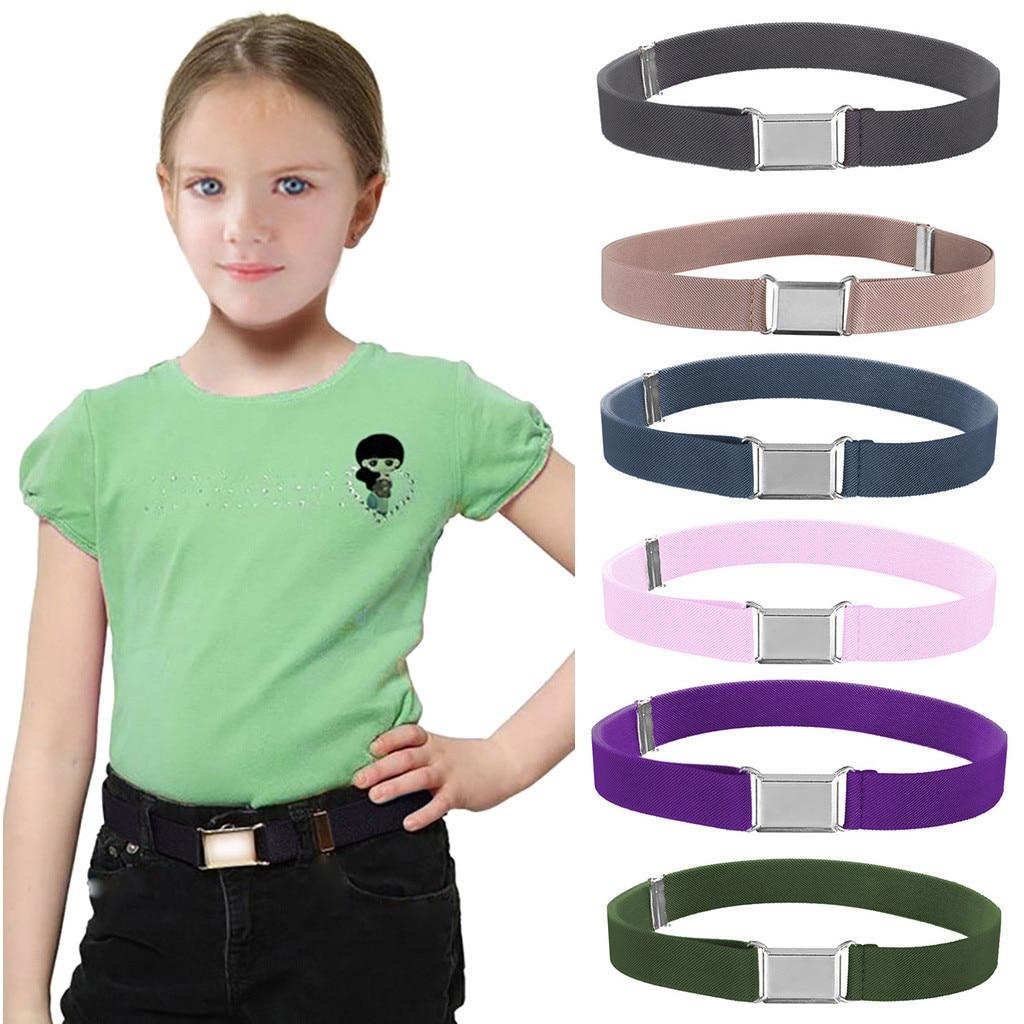 Детский ремень для младенцев эластичная регулируемая эластичная лента пояс унисекс ремень GG для детей Серебряная квадратная пряжка ceinture femme