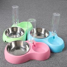 500ml Plastic Dog Water Bottle Dog Bowl 2 In 1 Portable Trav