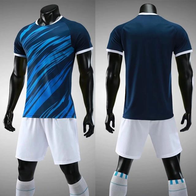 Hombre jerseys del deporte entrenamiento de Futbol uniformes set 2018 2019  adultos fútbol trajes camisas respirables 96dcb4d3bdc98
