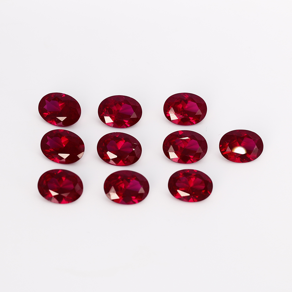 10-10.5ct Loose Gemstone High Quality 12x16MM Oval Ruby Stones DIY Decoration Jewelry Accessories Gifts 5 Pcs/set Wholesale