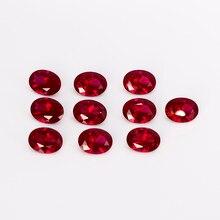 Gema suelta de 10-10.5ct, piedras de rubí ovaladas de 12x16MM, accesorios de joyería para decoración DIY, regalos, 5 unidades/juego al por mayor