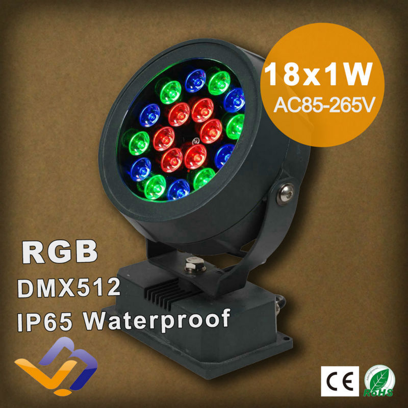 18w rgb led outdoor flood light colorful projection lamp round 18w rgb led outdoor flood light colorful projection lamp round shape outdoor landscape lighting waterproof ip65 dmx control in floodlights from lights aloadofball