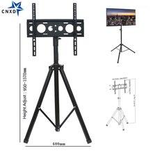 Height Adjustable TV Floor Tripod Stand 15kg Tilt Swivel LCD Monitor Portable Mount Mobile Lift Holder VESA 400x400mm