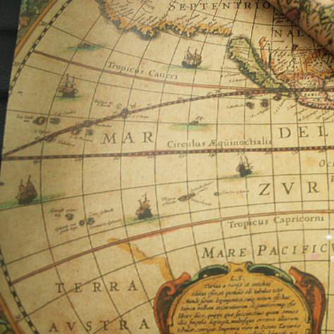 Wholesale 7352cm 100sheetslot world map nautical charts pattern wholesale 7352cm 100sheetslot world map nautical charts pattern gift packaging wrapping paper gumiabroncs Gallery