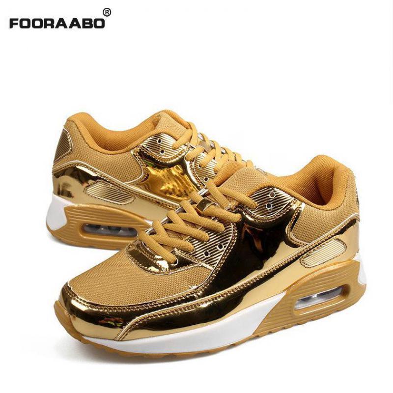Fashion Men Shoes Lace-up Men Casual Shoes Tenis Feminino Breathable Air Mesh Walking Shoes Mens Trainers Zapatillas Hombre Gold весна милана 6 со звуком с2210 о
