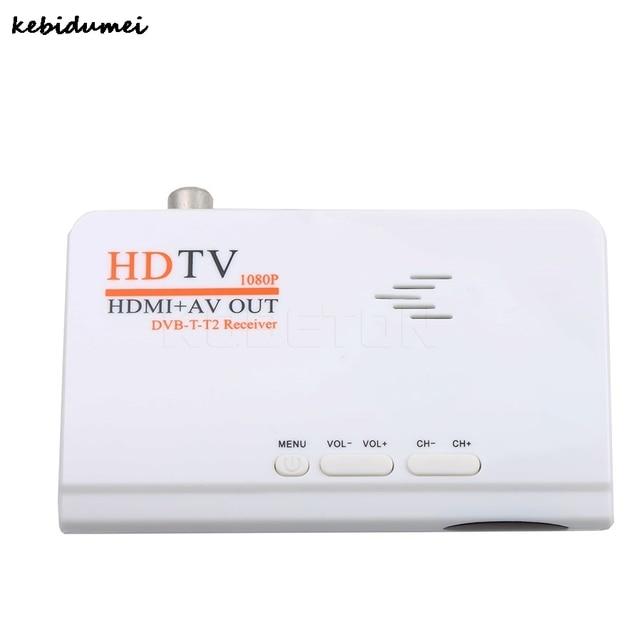 Kebidumei HD TV 1080p HDMI + AV خارج USB2.0 DVB T2 استقبال مجموعة صناديق التلفزيون صناديق علوية استقبال أرضي رقمي للتلفزيون