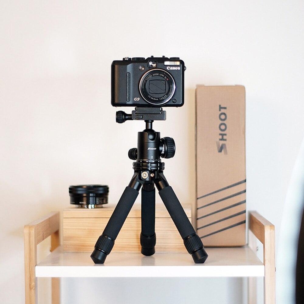 TIRER Mini Portable Caméra Trépied Réglable Stable Table De Bureau Trépied pour Canon Nikon Sony GoPro Stand Avec Rotule