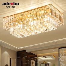 Moda Altın K9 Kristal Toplar Ile LED Dikdörtgen Tavan Işıkları Yemek Odası Yatak Odası Aydınlatma Için (ADB1159)