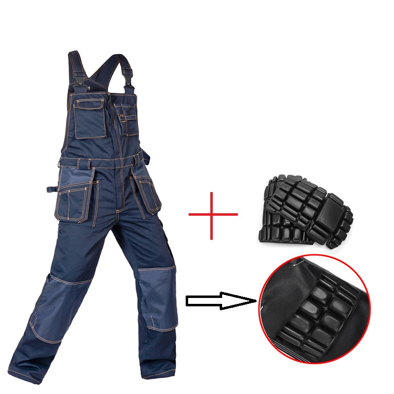 New Bib Overalls Men Women Work Coveralls Multi-functional Pockets Repairman strap Jumpsuits Pants Top quality Workwear Uniforms