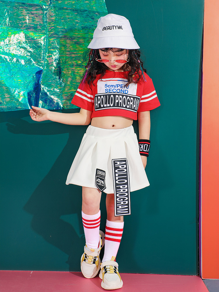 Fashion Children's Jazz Dance Costumes Boys Street Dance Girls Cheerleading Games Hip Hop Clothes Stage Performance Clothing