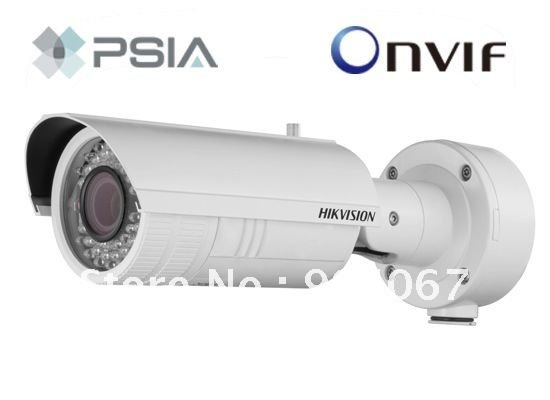 Hikvision IP camera DS-2CD8253F-EIZS, Hikvision Network Bullet Camera,IP66, IR 30m, electric varifocal lens,1audio interface..