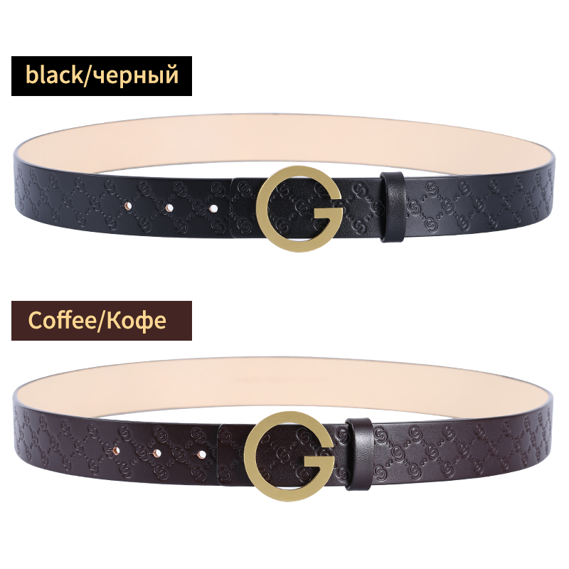 Image 4 - BIGDEAL High Quality Cow Leather Belt For Men Business Strap Men's Belt Cowskin Casual Belt Gift-in Men's Belts from Apparel Accessories on AliExpress
