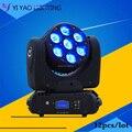 12 шт./лот 7x12 Вт RGBW 4в1 супер яркий светодиодный движущийся головной свет dj оборудование