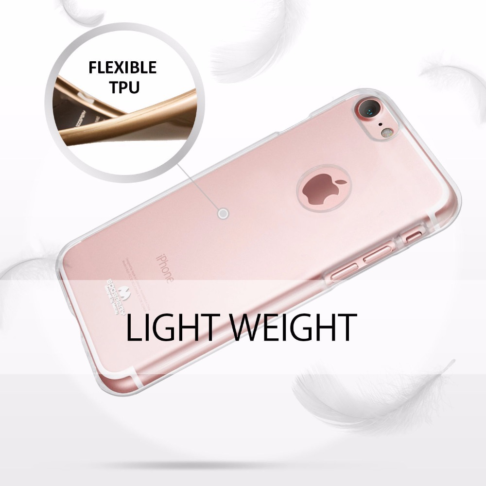 Original Mercury Goospery Transparent Clear Jelly Flexible Tpu Soft Iphone 6 6s Pearl Case Mint Cover For Apple 5 5s Se 7 8 Plus X In Fitted Cases From Cellphones