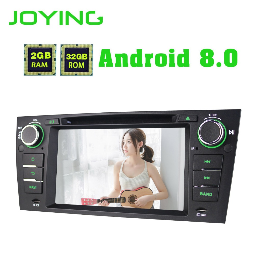 7Joying Single 1 Din Android 8.0 Car Radio Stereo GPS Navigation For BMW E90 E91 E92 E93 Head Unit NO DVD Multimedia Player
