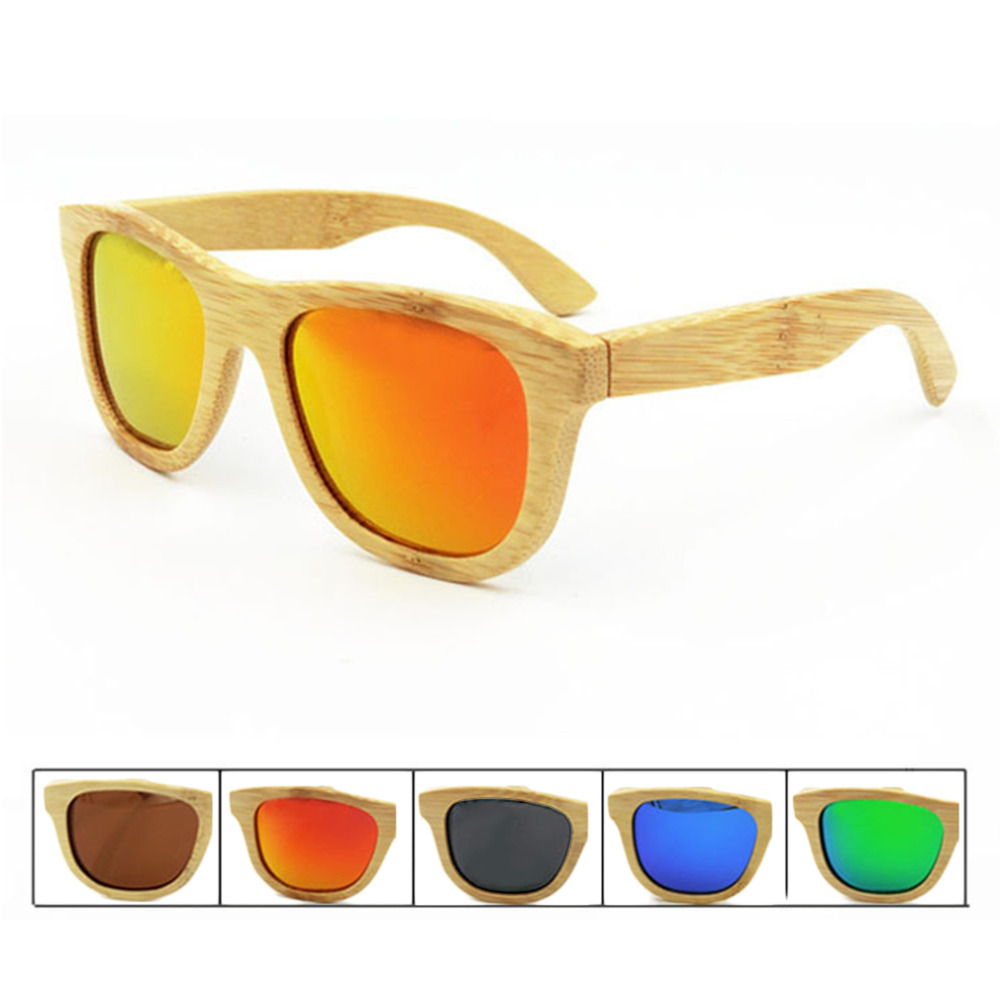 Cool Wooden Sunglasses Unisex Bamboo Sunglasses Brand Designer Mirror Original Wood Goggles feminino oculos de sol masculino