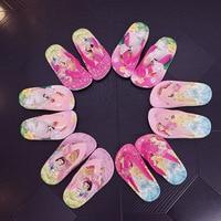 2019 verão crianças meninas princesa pvc chinelos de praia antiderrapante flip flop 3 tipos 2 cores xq01|Chinelos| |  -