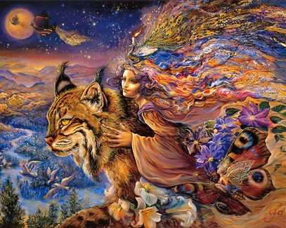 Wizard Goddess Cat Oil Painting Needlework,For Embroidery,DIY DMC 14CT Unprinted Cross Stitch Kits Cross-Stitching Decor Crafts