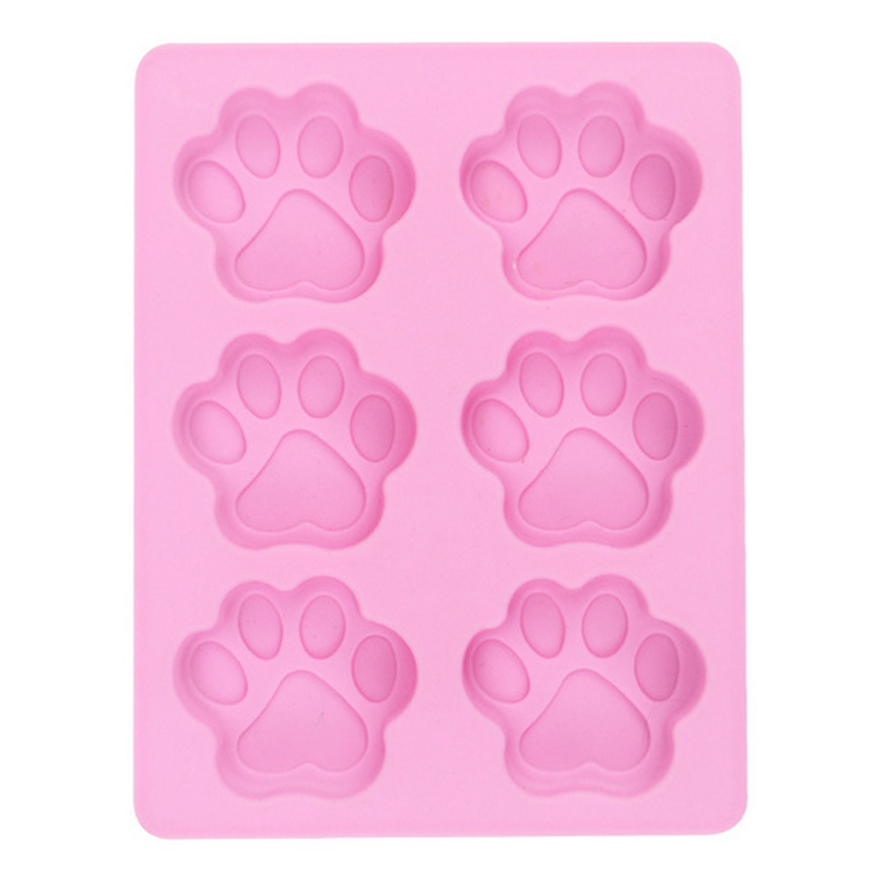 6 Silicone <font><b>Cat</b></font> Claw <font><b>Cake</b></font> Mold Footprint Pudding Chocolate Bakeware Mini Muffin <font><b>Cup</b></font> Savarin DIY Baking Tools M031 image