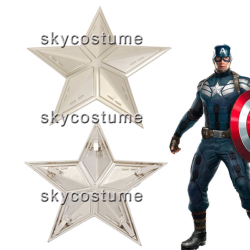Captain America The Winter Soldier Steve Rogers Chest Star Buckle Cosplay Costume Metal Badge Insignia
