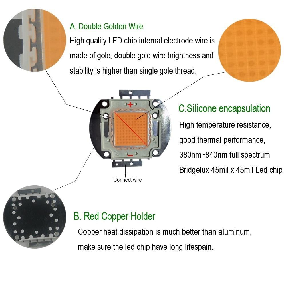 led grow light kit diy cob full spectrum grow light 50w led grow rh aliexpress com LED Light Bar Wiring Diagram Wiring 120V LED Lights Wiring-Diagram
