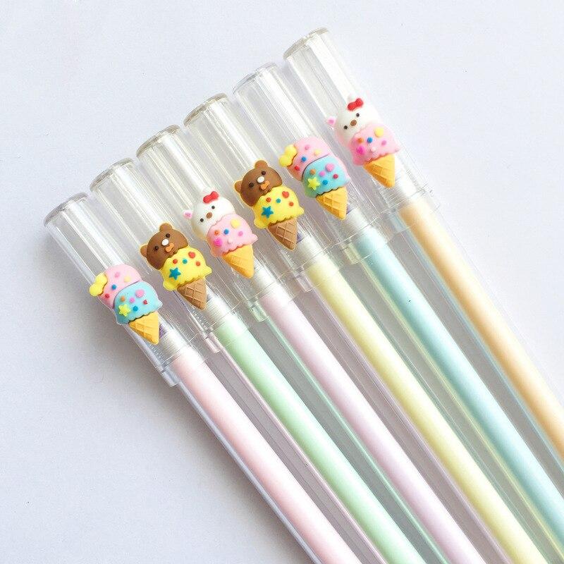 Aggressive 3pcs/pack 0.4mm Cute Kawaii Cartoon Rilakkuma Rabbit Ice Cream Erasable Gel Pens Blue Ink Pen For Kids School Stationery Girls Pens, Pencils & Writing Supplies