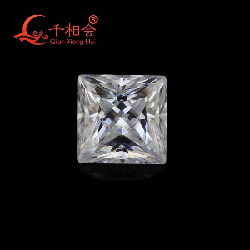 DF GH IJ color white square shape diamond cut Sic material moissanites loose gem stone qianxianghuiDF GH IJ color white square shape diamond cut Sic material moissanites loose gem stone qianxianghui