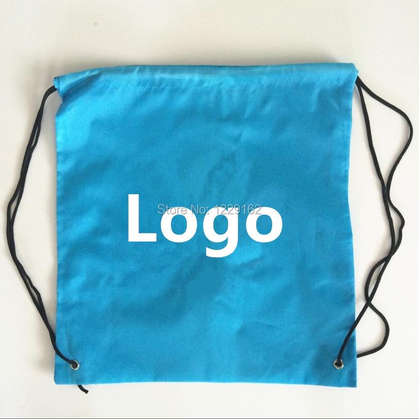 Mode Kustom Poliester tali tas (300 pcs lot) 30x40 cm hadiah tas promosi  ramah lingkungan tali ransel sekolah tas 06ffff47ed