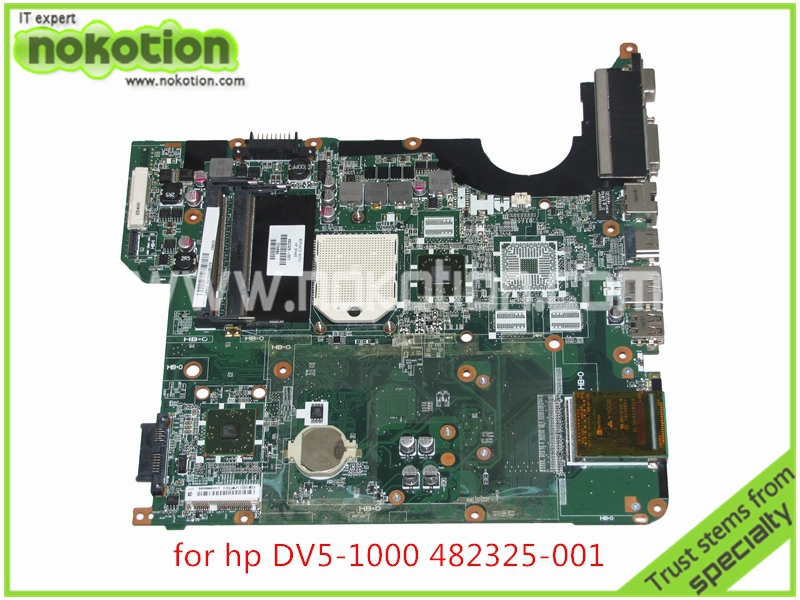 все цены на NOKOTION DA0QT8MB6G0 laptop motherboard For HP Pavilion DV5 series 482325-001 DDR2 Mainboard full tested онлайн