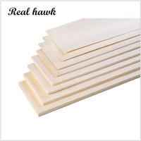 Balsa Wood Sheet ply 200mm long 100mm wide mix of 0.75/1/1.5/2/2.5/3/4/5/6/7/8/9/10mm thickness each 1 piece model DIY