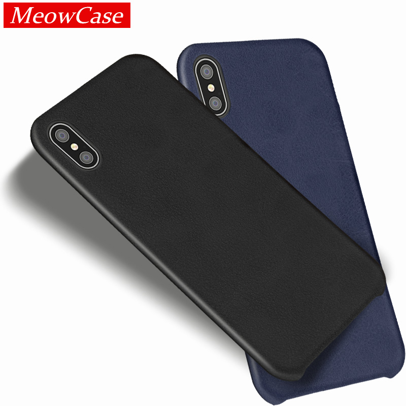 meowcase leather phone cases for apple iphone x leder case original vintage cover for iphone 7 8. Black Bedroom Furniture Sets. Home Design Ideas