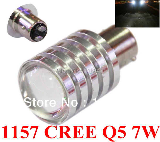 2Pcs Pure White High Power LED Brake lights 1157 7W Brake light Auto Car Fog Daytime Running Light Lamp Bulb 12v