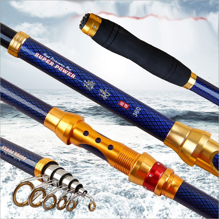 2019 series carbon spinning fishing rod 2.1 3.6m hard short travel telescopic rod rock boat stick for seafishing bass carp pole-in Fishing Rods from Sports & Entertainment