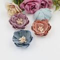 New Style Stamens Core decoration Bicolor double Materials Camellia Flowers Shape Handmade Florals Diy Garments/Hair accessory