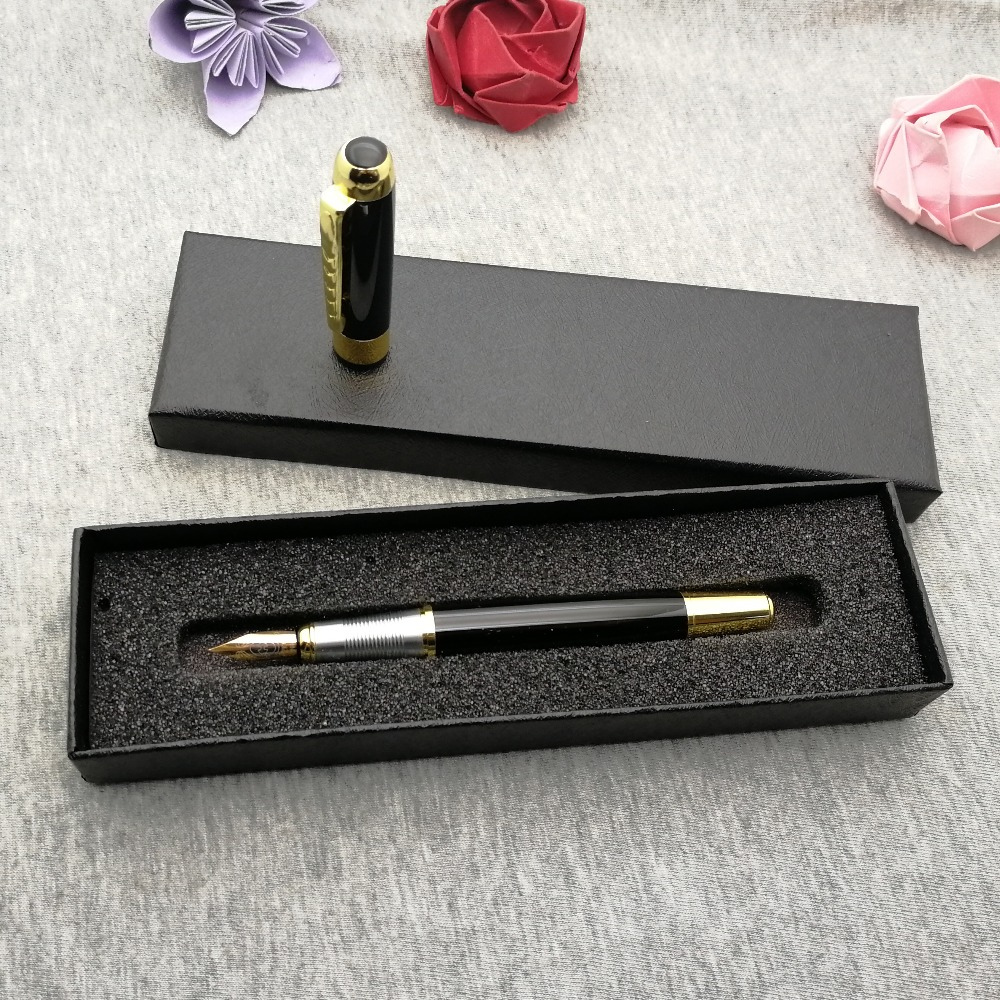 Classical Fountain Pen 10pcs lot cute Christmas gifts with my logo TEXT design artwork and brand engraved free and with gift box in Fountain Pens from Office School Supplies