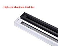 20pcs/lot 1m LED track light rail aluminum track lighting fixture rail Universal rails track rail 2 wire