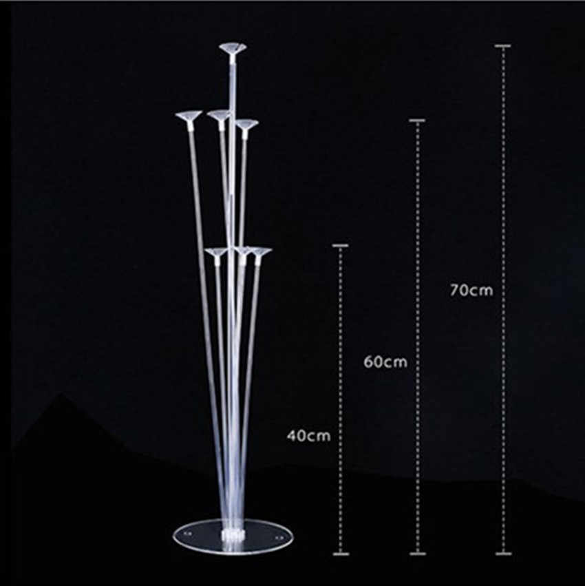 1set Clear Base Pole Table floating Stand Balloon Wedding decoration  birthday Party Balloons Latex Foil Balloon Column Base