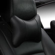 Автомобильные подушки для шеи с 2 сторонними защитными вставками из искусственной кожи, черные/красные универсальные подголовники, подушки для спинки, легко установить и очистить