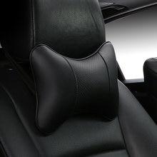 Almofadas de pescoço do carro couro do plutônio cabeça apoio protetor preto/vermelho universal encosto encosto almofada fácil instalar e limpar