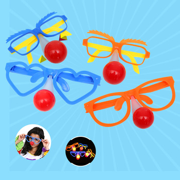 Adult Children Light Glow Clown Nose Glasses Funny Show Props Halloween Masquerade